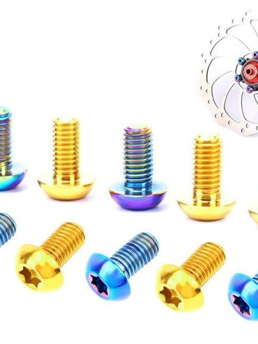 12Pcs M5x10mm Titanium Brake Rotor Mounting Bolts