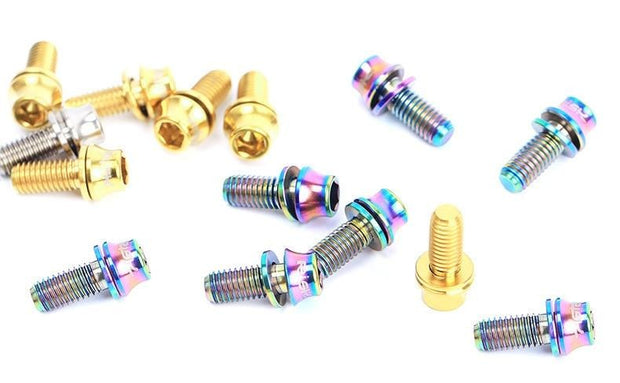 ti titaium mtb bottle cage bottle mount bolts set hardware