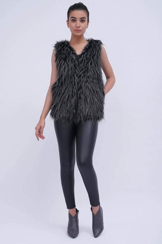 Hustlenholla Tops/Jackets HNH faux fur jacket Fur jacket  | Women Fur Jacket | HNH Pakistan