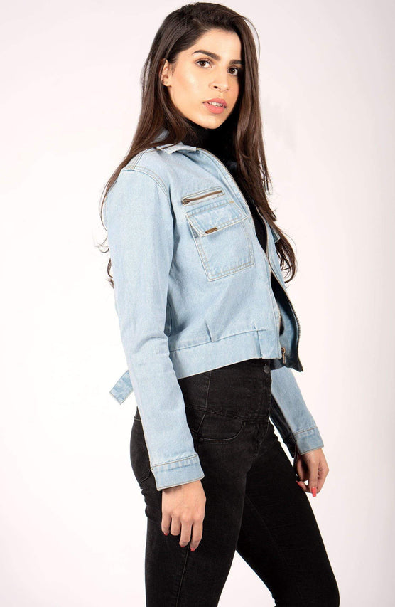 Hustlenholla Denim/Jackets Petite Blue Cropped denim Perfect Denim | Cropped Women Denim | HNH