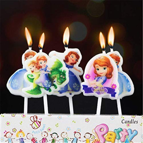 Princess themed Birthday party candles for kids