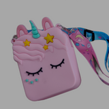 Cute unicorn Silicone coin/ sanitizer/ makeup pouch (Single Piece)