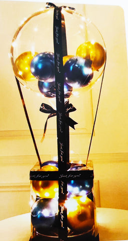 Designer balloon basket with LED lights for party