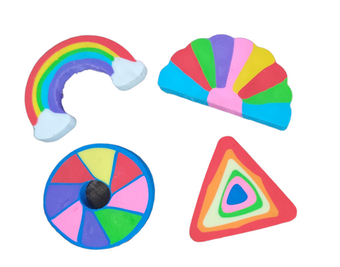 Rainbow erasers for return gift - Pack of 4