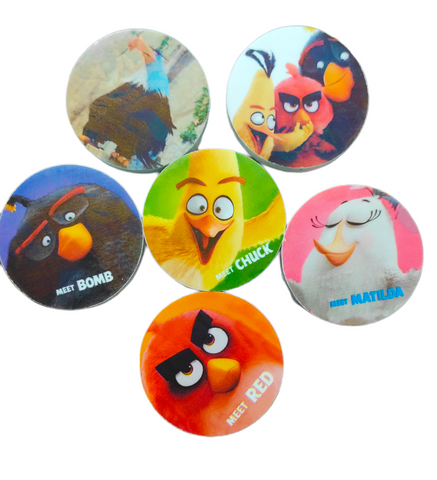 Angry birds erasers for return gift - Pack of 6