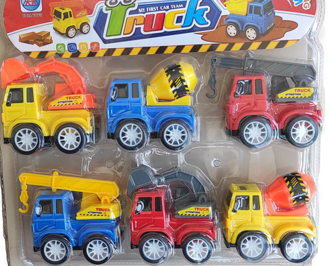 6 in 1 mini loading/ construction vehicles for kids play