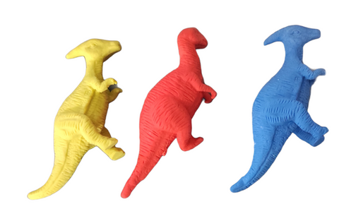 Dinosaur shaped erasers for return gift - Pack of 3