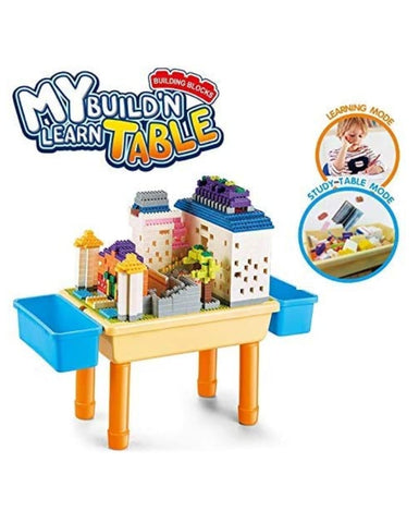 1000  Pieces building blocks learn table
