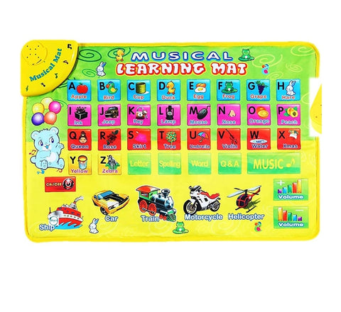 Musical learning mat for letter recognition/ Spellings/ Pronunciation/ Transport sound