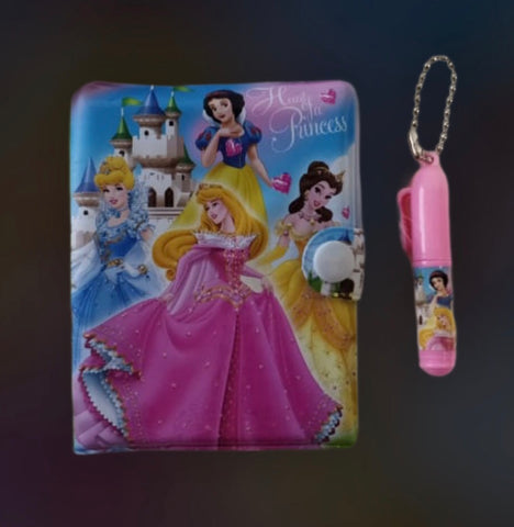 Princess styled Personal Desk Notepad Memo Book Small/ Pocket diary with a small pen