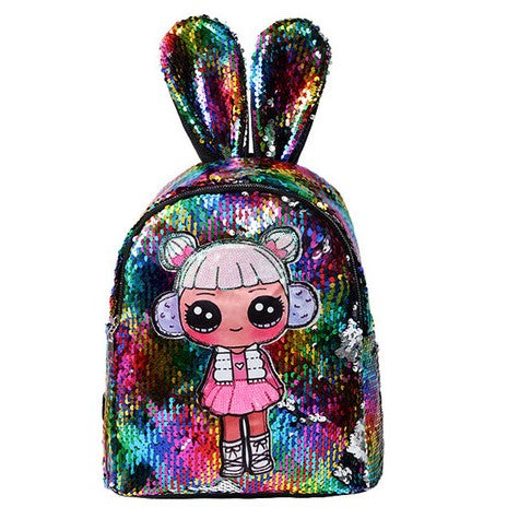 Cute sequinned backpack with LED lights for girls - You and Gifts