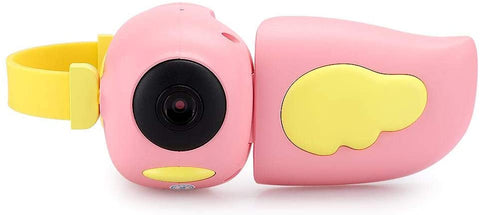 Mini Cute Camera for Kids, A100 12MP USB Digital Video Camera, with 2.0 In Color Display Screen/Multi-Games, One-Key Control(Pink)