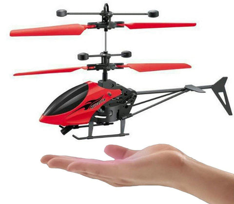 Plastic Hand Induction/ Sensor Control Flying Helicopter Toy