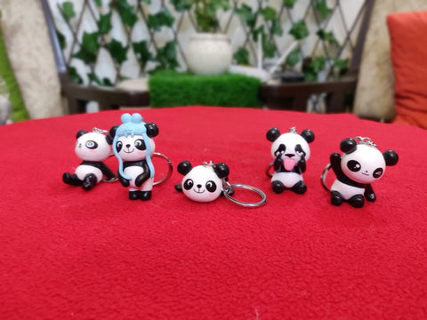 Cute panda key chain/ Bag accessory/ Car decor