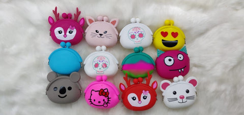 Cartoon characters Silicone coin pouch for kids (1 Piece)-Bags and Pouches-You and Gifts