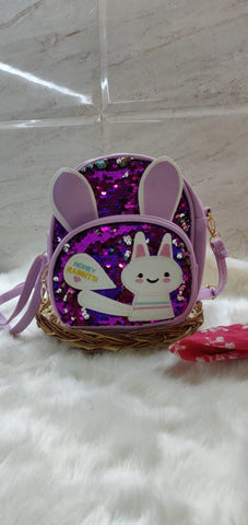 Cute Sequinned Rabbit backpack for girls