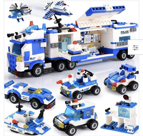 113 pieces Spring flower police series/ police swat team- Building blocks
