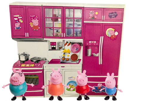 Peppa Pig and the amazingly cute family and battery operated kitchen set-TOY-You and Gifts