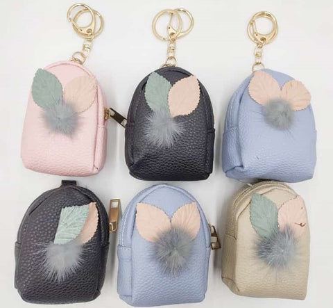 Stylish mini zipper coin pouch with key chain-Bags and Pouches-You and Gifts
