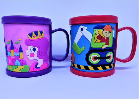 Cute 3D embossed Coffee/ Tea/ Milk multicolored cups - Unicorn, Smiley, Numbers Designs  (1 Piece) - You and Gifts