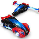 Spider web car with Music and Lights 360° driving transformer car toy with collision deformation function-TOY-You and Gifts