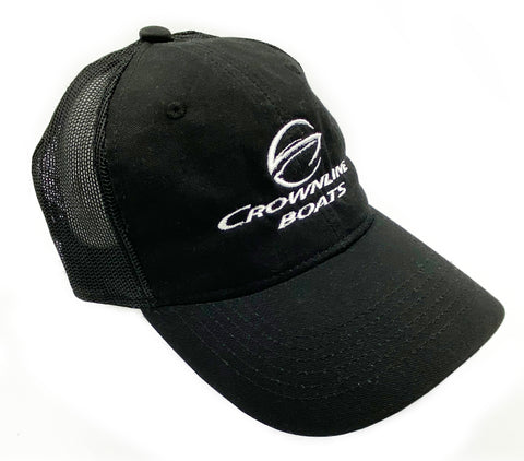 Crownline Logo Garment Washed Trucker Cap