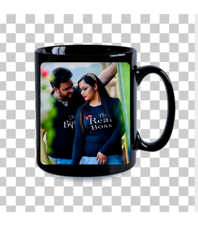 Customise black Mug