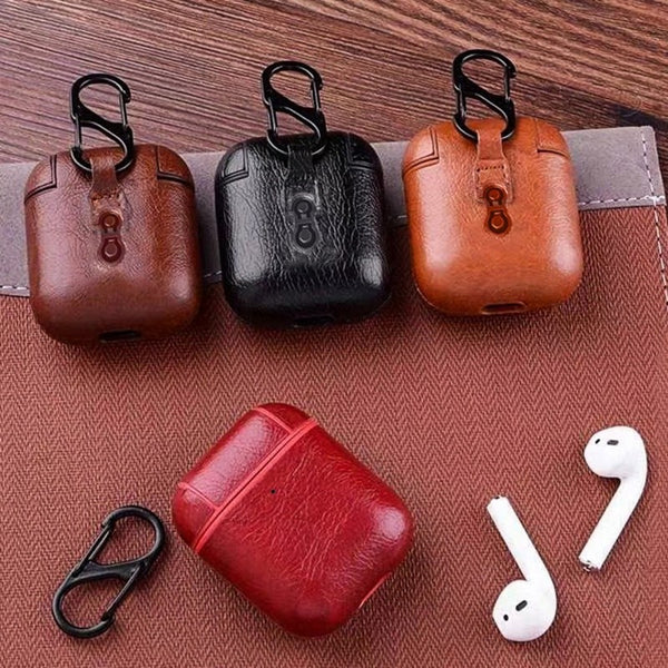 Pu Leather Airpods Case - Slick3d