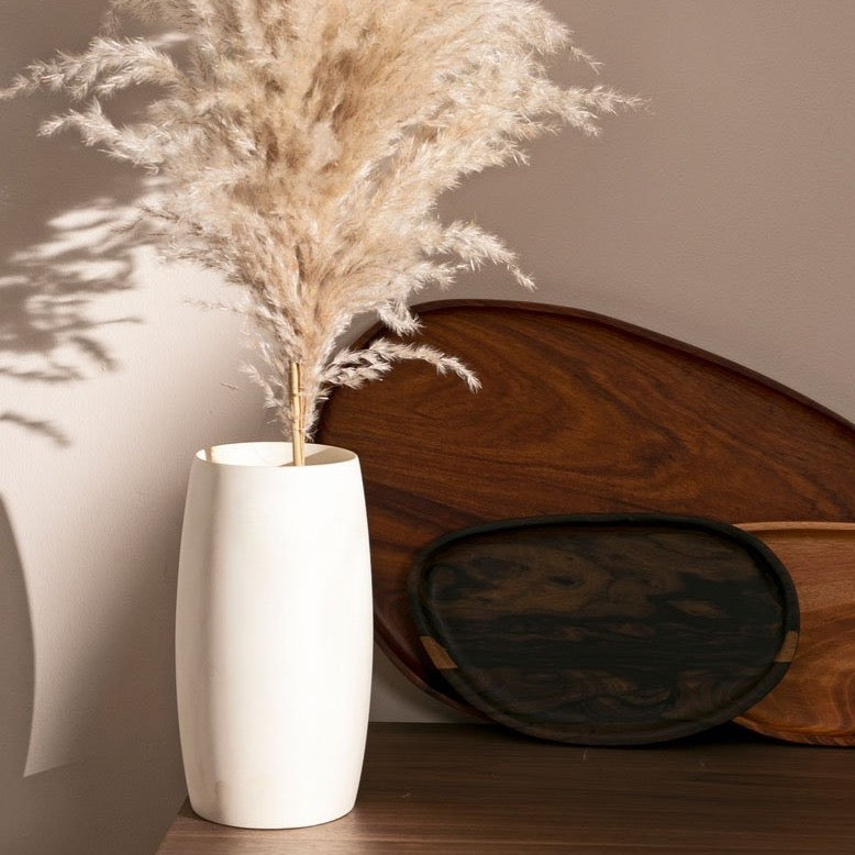 Wooden vase for flowers