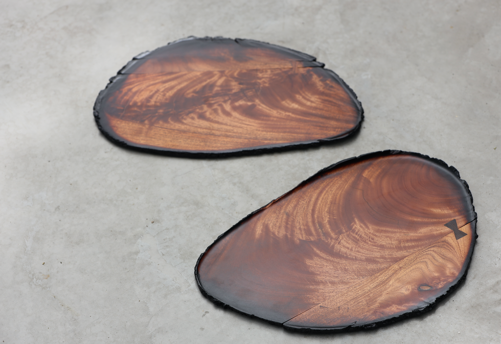 Large Mahogany Leaf Tray