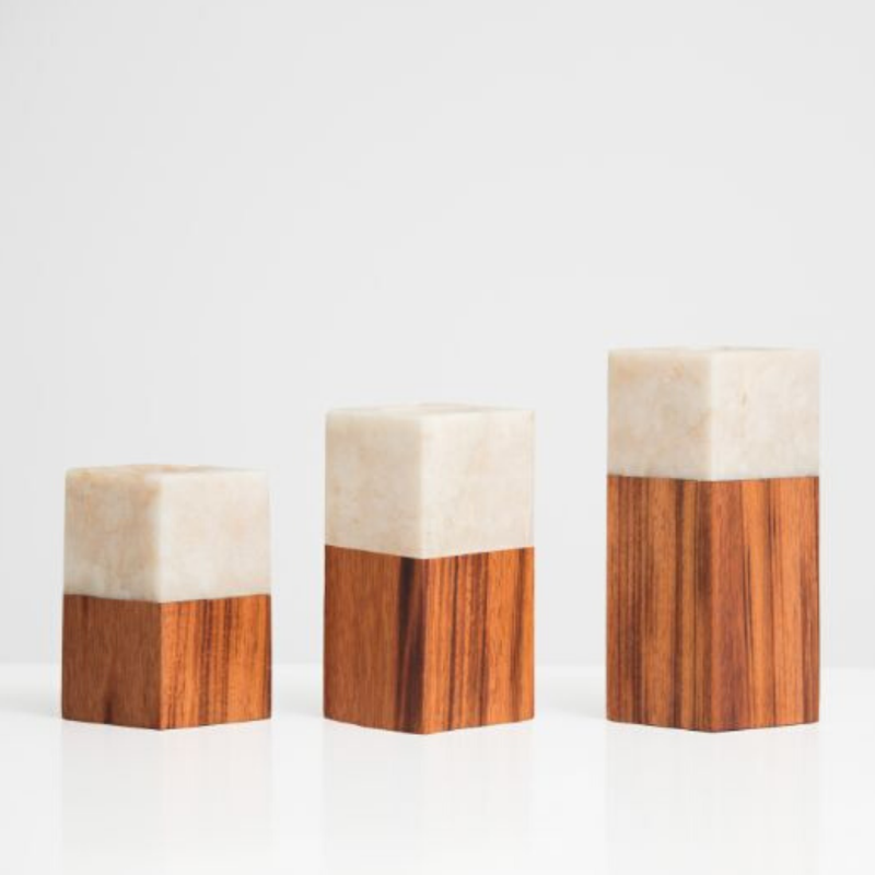 wooden candle holder pillar