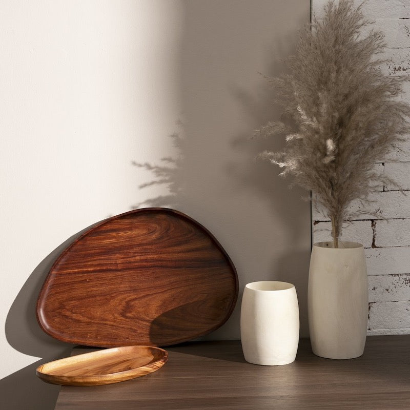 wood leaf trays