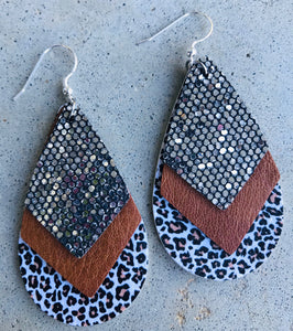 Layered Teardrop Earrings