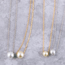 Load image into Gallery viewer, Gold Dipped Pearl Necklace