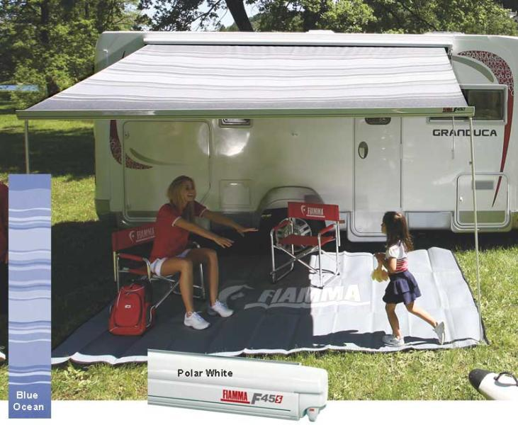 Fiamma Awning F45S 450 Blue - White Case