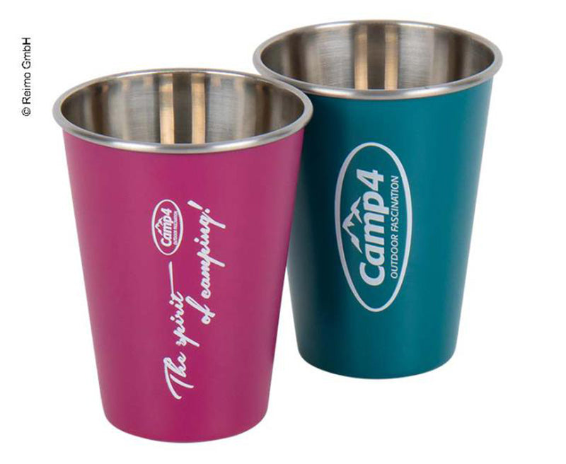Stainless Steel Mug In Berry & Blue