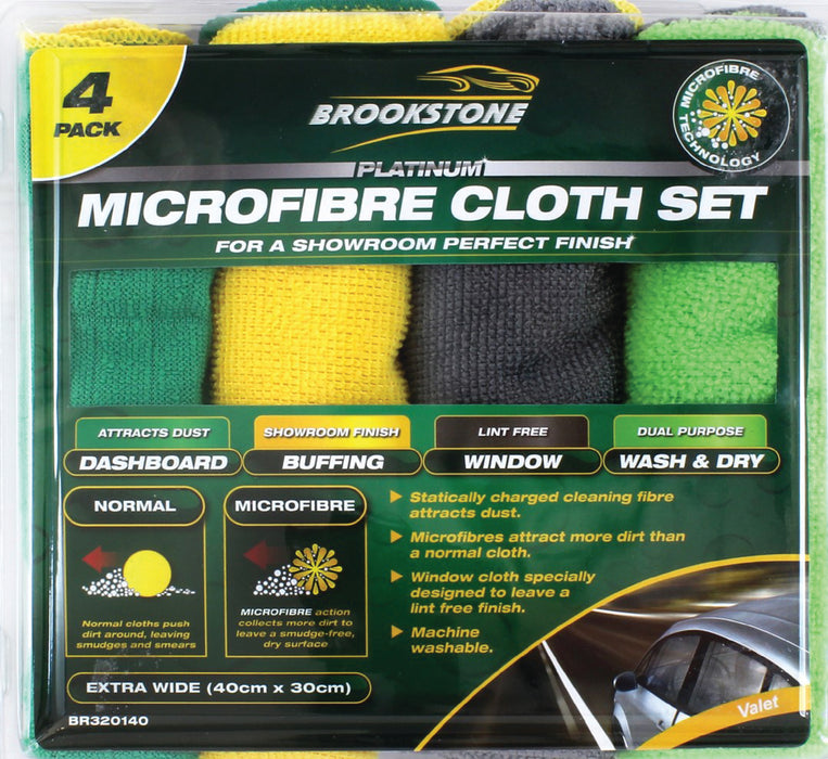 Brookstone 4PC Microfibre Cloth Set