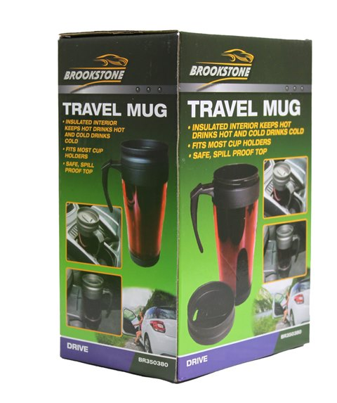 Brookstone Travel Mug Safe Spill Proof Top