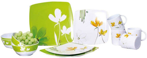 Camp 4 Costa Rica Melamine Dinner Crockery 16 Pieces Set