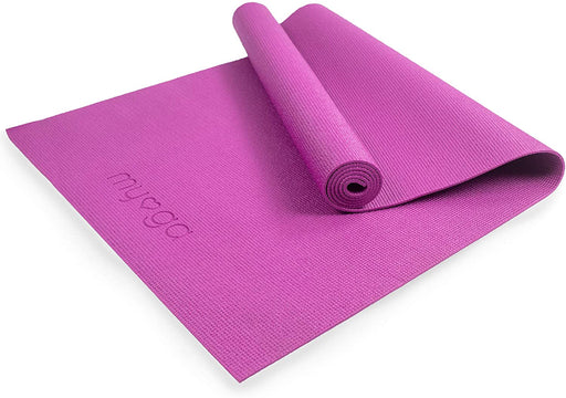 Entry Level Purple Yoga Mat Exercise Fitness Mat 173 x 61cm