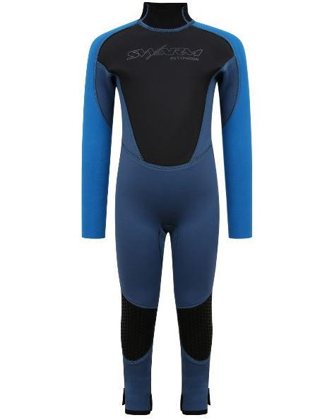 Typhoon Swarm One Piece Infant Wetsuit Steel Blue