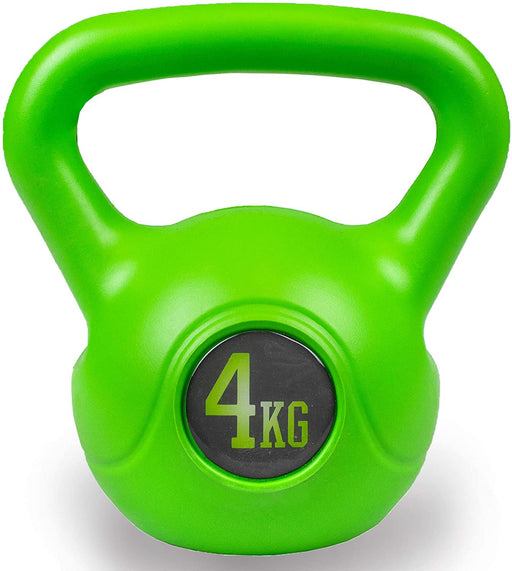 Vinyl 4KG Kettlebell Heavy Weight Kettle Bell Cardio Training Green