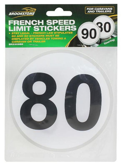 Brookstone French Speed Limit Stickers 80/90