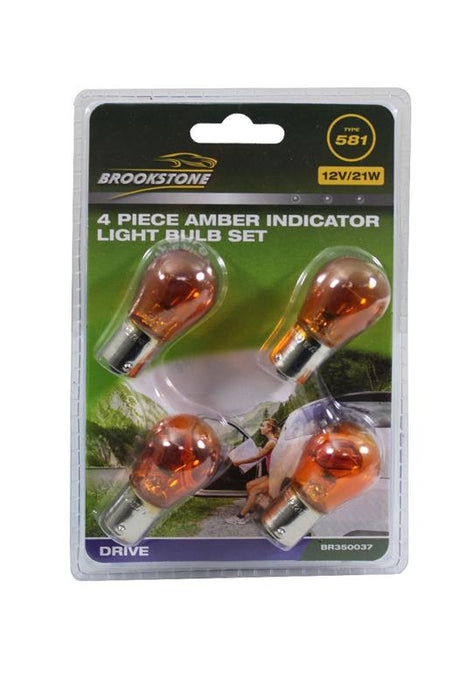 Brookstone 4PC Amber Indicator Light Bulb Set