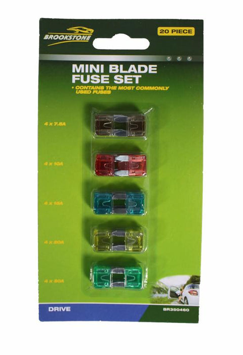 Brookstone Mini Blade Car Fuse Set 20PC