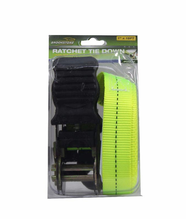 "Brookstone Ratchet Tie Down 1""x15FT"