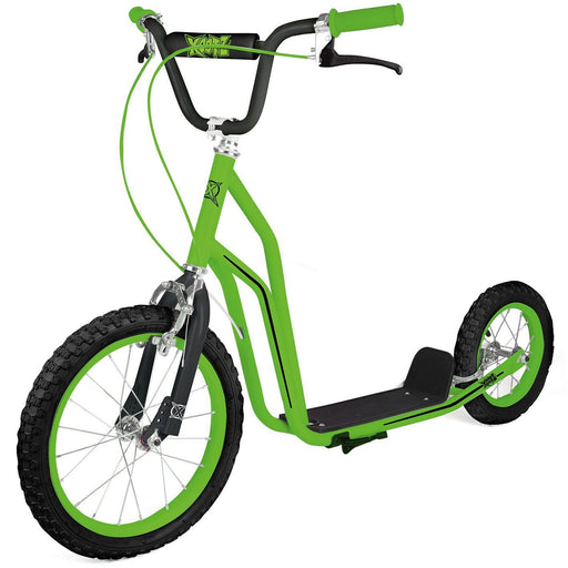 BMX Big Wheel Xootz Green Push Scooter Kids Beginner Ride On