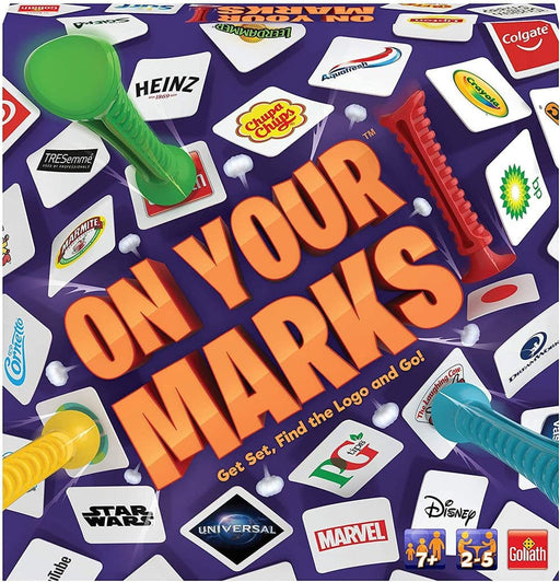 Goliath On Your Marks Kids Adults Logo Game