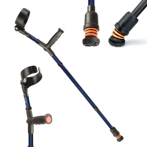 Flexyfoot Soft Grip Double Adjustable Crutches - Blue