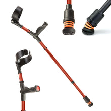 Load image into Gallery viewer, Flexyfoot Comfort Grip Double Adjustable Crutches - Red
